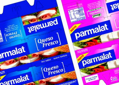 Packaging Quesillos Parmalat