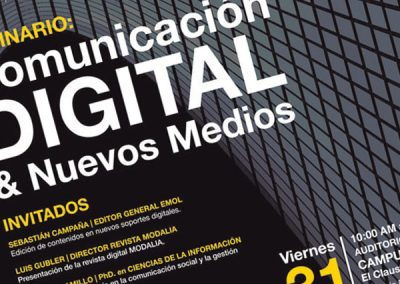 Seminario Comunicación Digital y Nuevos Medios