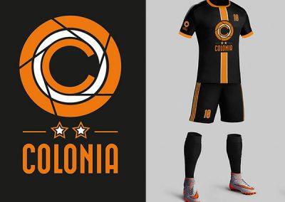 Marca Gráfica y Uniformes de Futbol Colonia